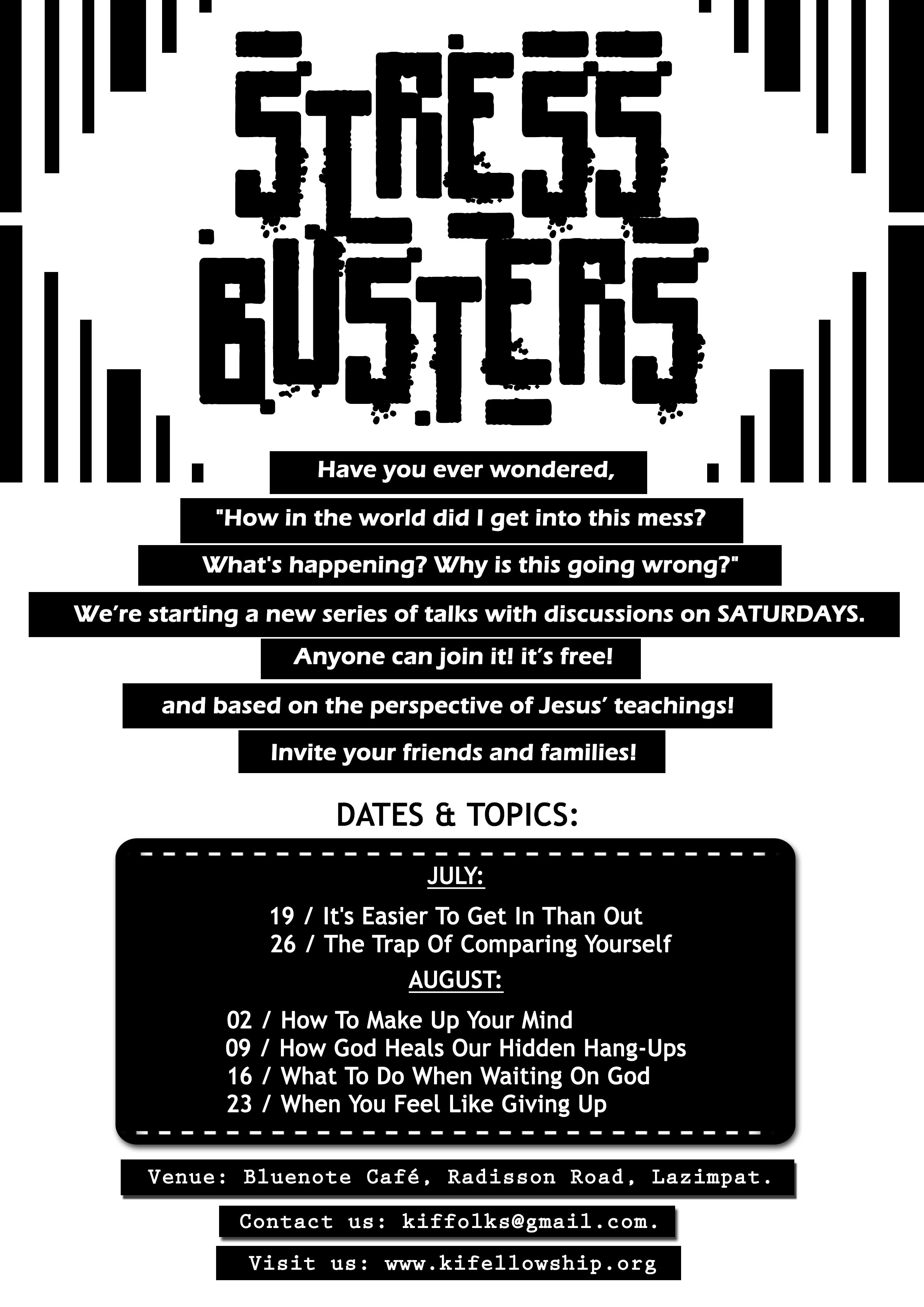 Stress Busters Invitation